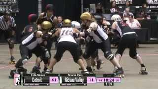WFTDA Roller Derby: 2014 Championships - Detroit Derby Girls vs. Rideau Valley
