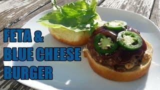 Tony Rican's Feta & Blue Cheese Burger