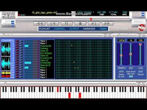 AL GHAZALI -  GALAU - KARAOKE SAMPLING MIDI SF2 TO MP3