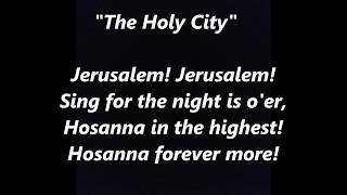 The Holy City Jerusalem song LYRICS WORDS BEST TOP PALM SUNDAY EASTER TREND Lent Religion SING ALONG