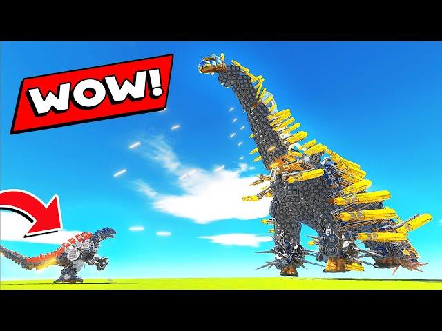 WORLD'S LARGEST BOSS vs NEW MECHA GODZILLA - Animal Revolt Battle Simulator
