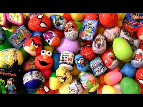 75 Kinder Surprise Eggs DC Transformers AngryBirds Shopkins DisneyFrozen Cars Marvel Toys Collector