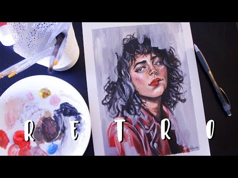 'Retro' Acrylic Speed Painting 💋