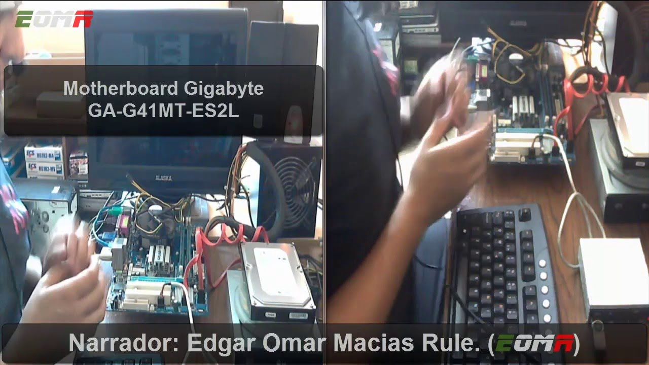Motherboard Gigabyte GA-G41MT-ES2L Processor Intel Core 2 Duo E7500 SLGTE  Ram DDR3 8GB Windows 10 c995e99fb98b