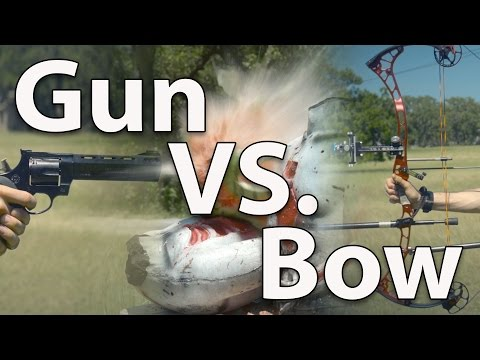 Demolition Ranch Vs. ArcheryTalk (Gun Vs. Bow)