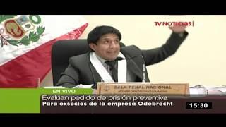 Resolución sobre pedido de prisión preventiva a socios de Odebrecht se leerá esta noche