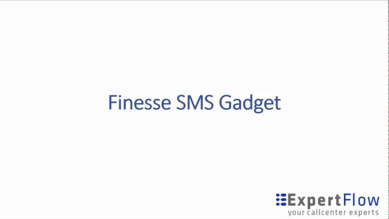 Cisco Finesse Gadget - SMS (UCCE, PCCE, UCCX)
