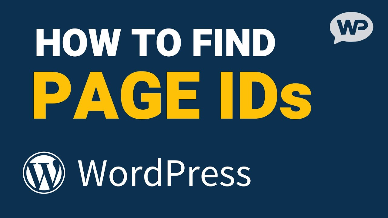 How to Find PAGE ID in WordPress (and POST ID)