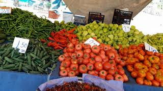 Leben in  Alanya, Wochenmarkt + Straßenrestaurant  - Ali Iscitürk