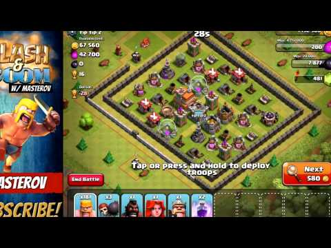 200 BARBARIAN + IRON FIRST = EPIC?! | Clash Of Clans | MAX Town Hall 8 - Part 5