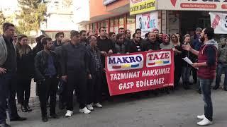 Makromarket mağdurları haklarını istiyor