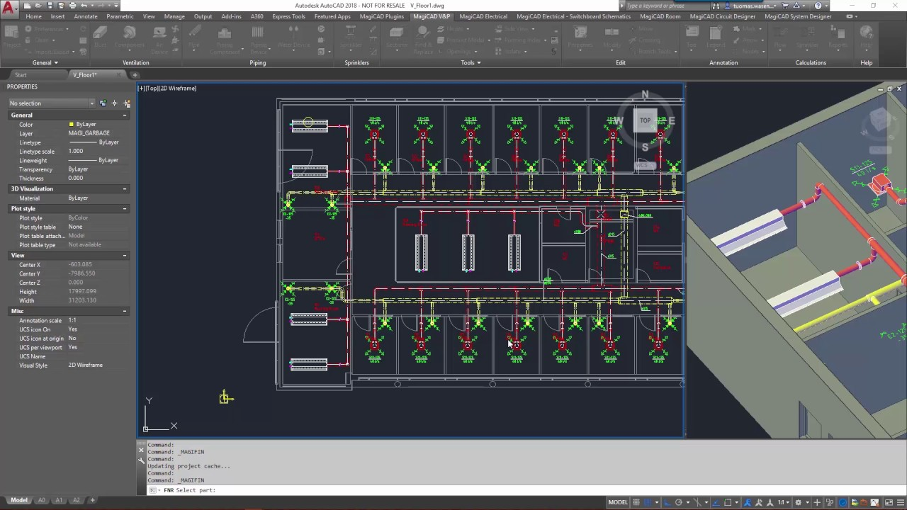 Magicad 2018 For Autocad Top New Feature Find Amp Replace