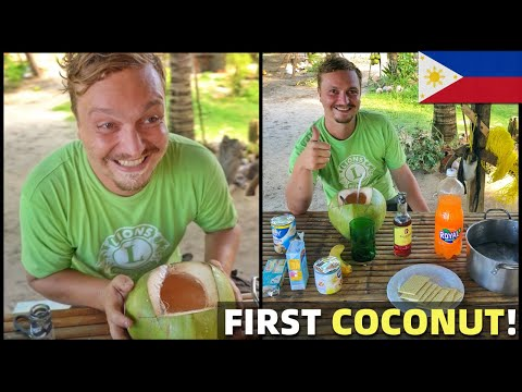 BRITISH FRIEND EATS FIRST FILIPINO COCONUT SNACK – Philippines Province Life (Davao, Mindanao)