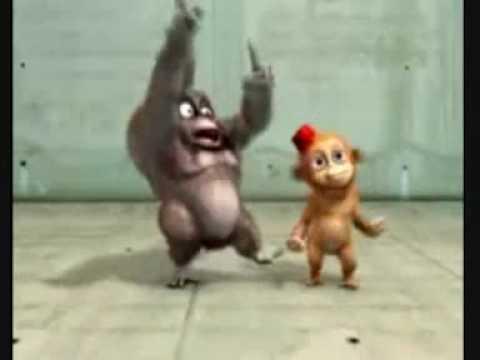 Cartoon farting monkeys
