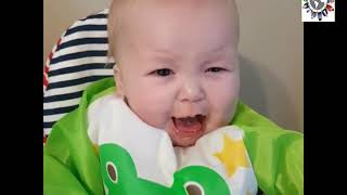 Adorable babies try new food for the first time, Funny Video