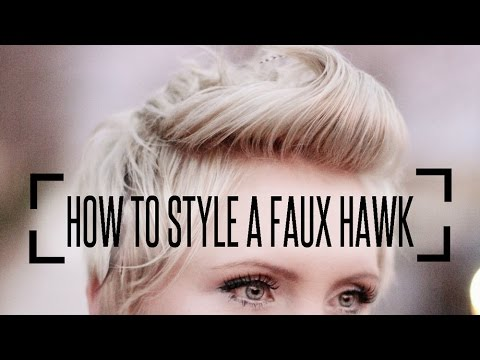 how to style a faux hawk with short hair how to style a faux hawk on pixie hair 3743 | hqdefault