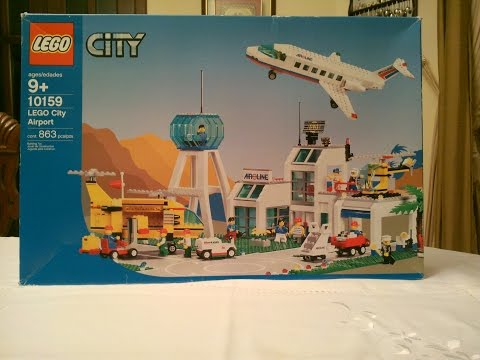 LEGO City Airport 10159 timelapse review