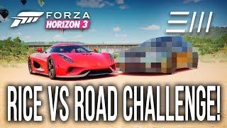 Forza Horizon 3 - Koenigsegg REGERA vs ??? - RICE vs ROAD CHALLENGE! (w/Starkey)