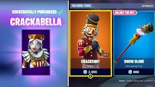 *NEW* Fortnite CRACKSHOT SKIN RETURNS + CRACKABELLA Gameplay! 12/20/2018 ITEM SHOP! (+ Snow Globe)