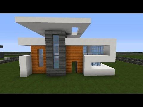 Minecraft modernes haus mittwoch grau wei bauen tutorial for Minecraft modernes haus deutsch
