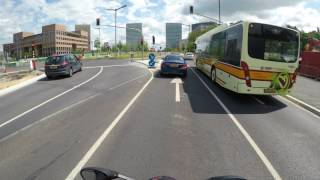 Luxembourg city Boulevard Royal To Kirchebrg  (25C°) (4K) Ducati Super Sport S