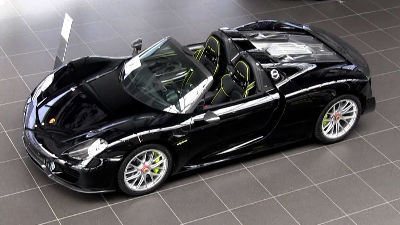 black porsche 918 spyder details and overview youtube. Black Bedroom Furniture Sets. Home Design Ideas