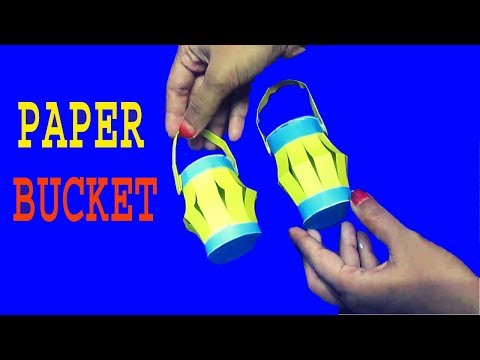 How To Make Paper Bucket | Short And Easy Trics | Gift For Christmas