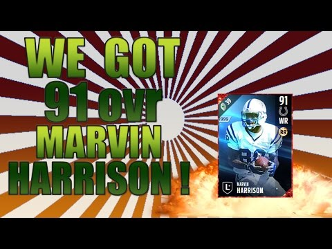 WE GOT 91ovr MARVIN HARRISON! - MADDEN 17 ULTIMATE TEAM