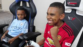 Can i finally beat my Little Bro | Man Utd vs Man City | FIFA 19