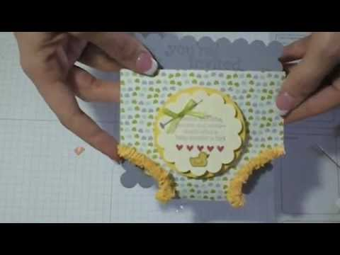 Baby Shower Invitation Diaper - YouTube