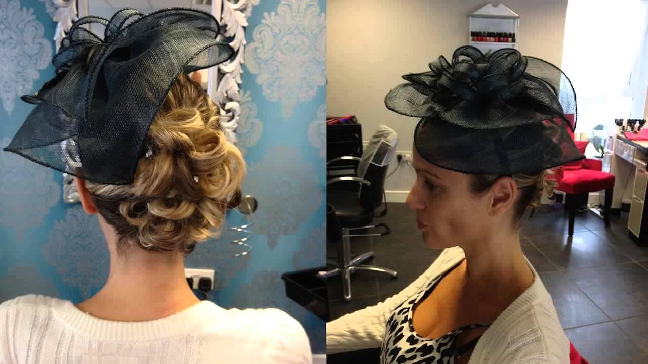 wedding guest hair half up half down with fringe hairdresser