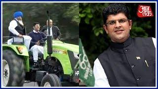 Lok Sabha MP Dushyant Chautala Reaches Parliament In Tractor