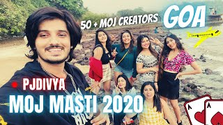 MojMasti 2020 | 50+ Moj Creators in Goa | Happy New Year 2021 | PjDivya Vlog