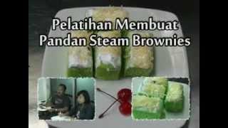 Pembuatan Pandan Steam Brownies