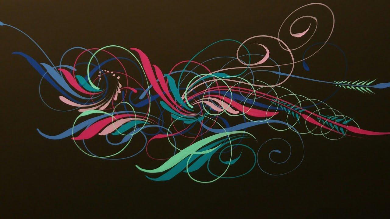 Beautiful Pinstriping Art Youtube