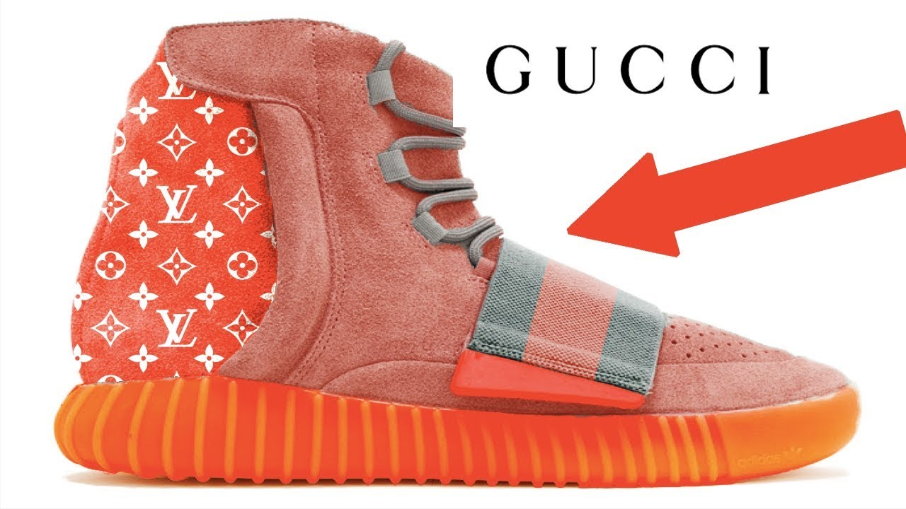 30abccf7156 Custom GUCCI x SUPREME x LOUIS VUITTON YEEZYS - YouTube