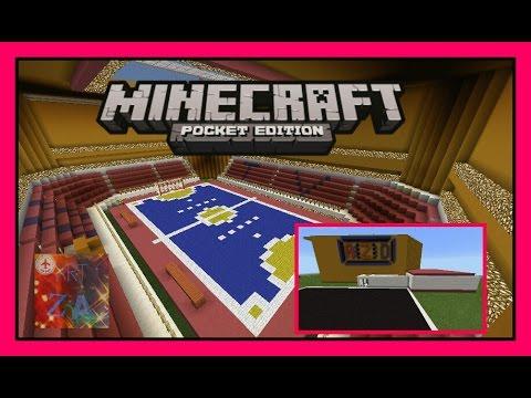 [AZD]-[รีวิว]สนามฟุตซอลใน Minecraft PE ใน มายคราฟ พีอี