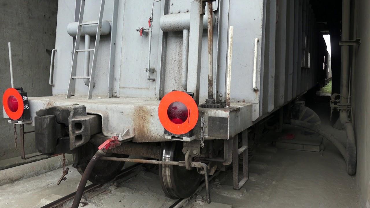 亞洲水泥 花蓮港 鐵路貨物支線 水泥貨列卸貨 - YouTube