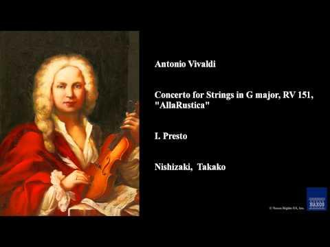 Antonio Vivaldi, Concerto for Strings in G major, RV 151,