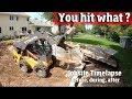 We found SOMETHING BIG buried & its not good.  Landscaping & demolition Project- 4K video