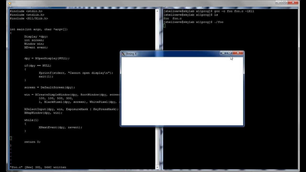 Xlib Programming In C And Linux Tutorial 01 Creating A Window Youtube