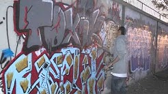 Graffiti Time Lapse  - Tempe, AZ (f*ck the police)