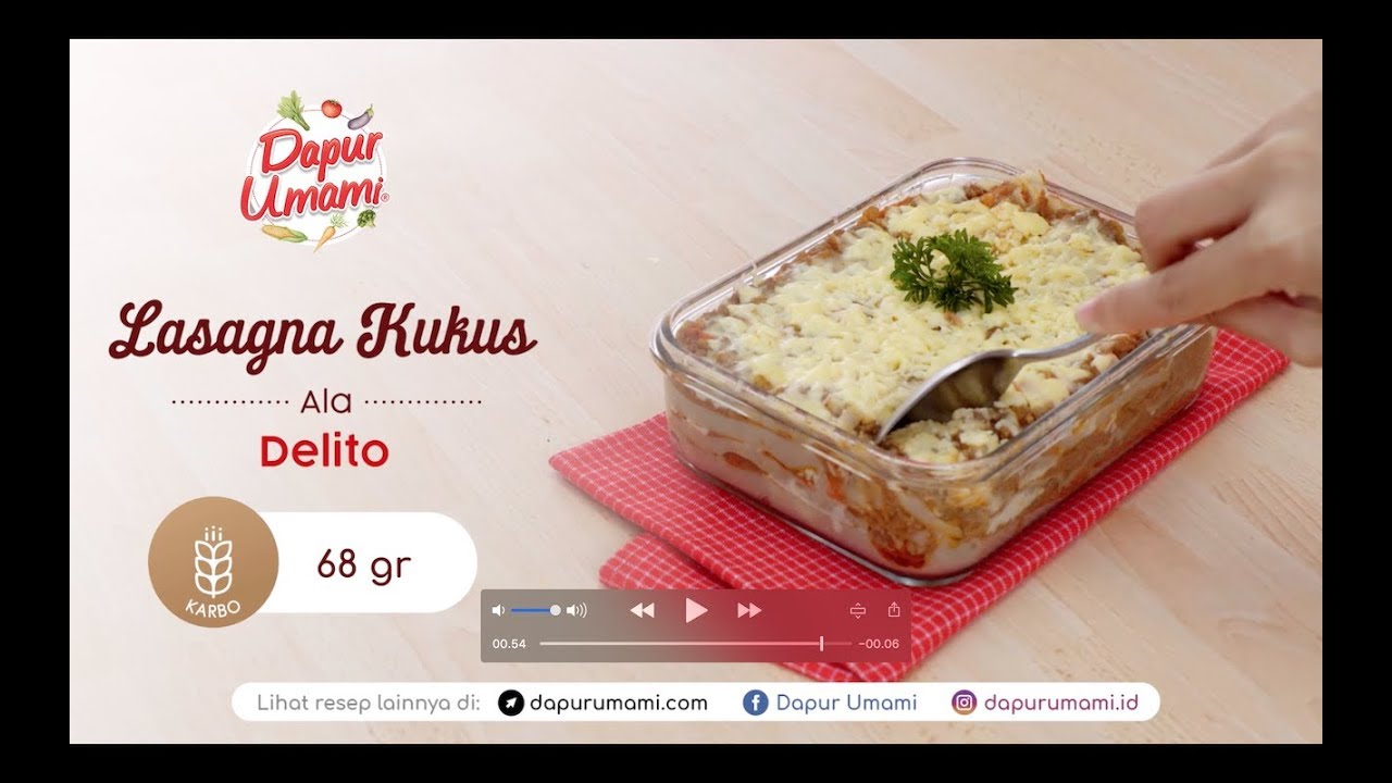 Dapur Umami Lasagna Kukus Ala Delito Youtube