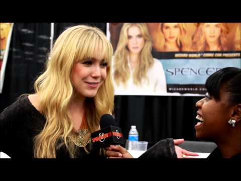 Spencer Locke  at Austin Comic Con with SpiderwoodTV