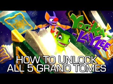 Yooka-Laylee - How to Unlock All 5 Grand Tome Worlds (Zones) - Open Books Achievement/Trophy Guide