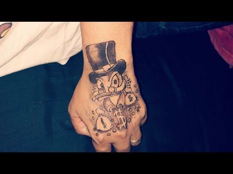 Tattoo Na Mao Masculina Tio Patinhas Mmod