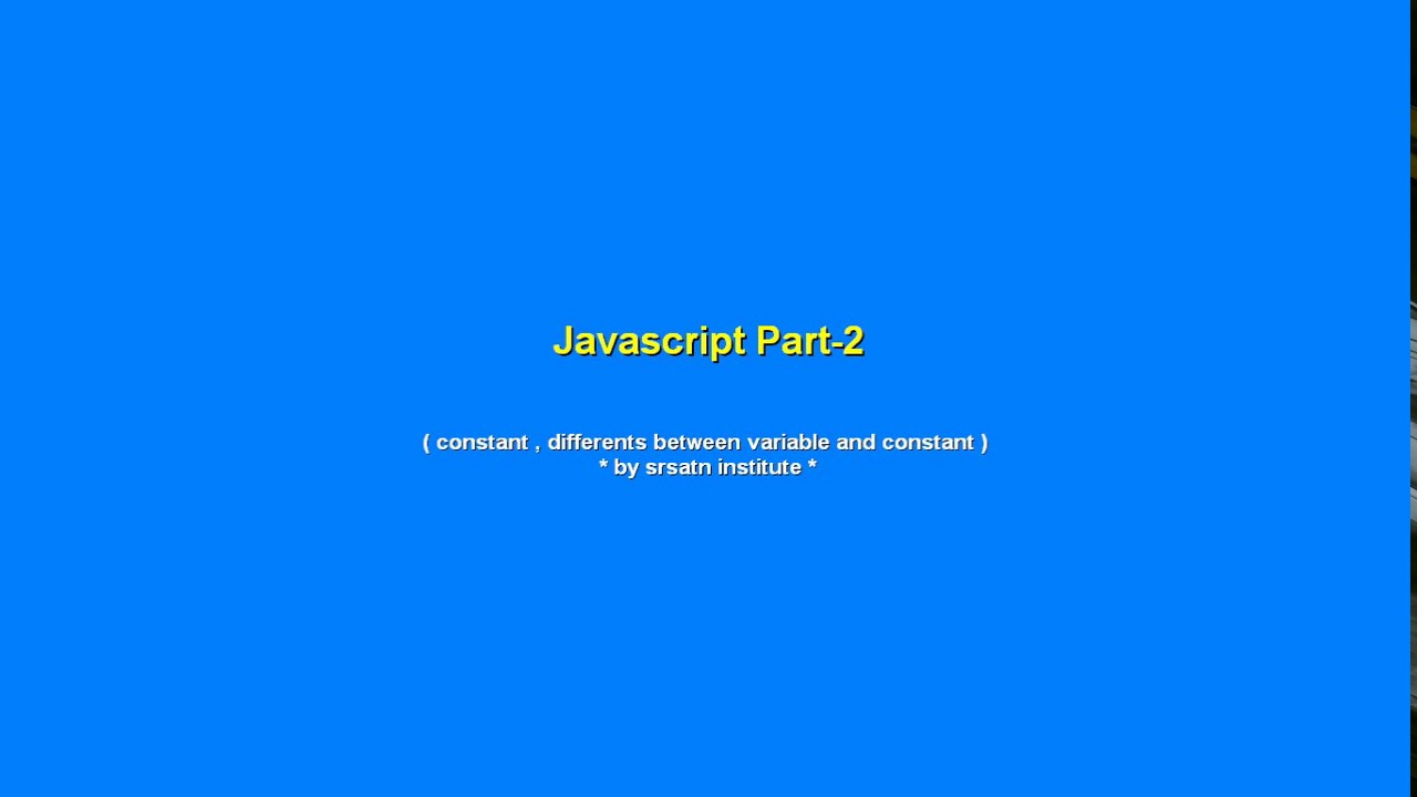 how to make javascript chose between 2 variables