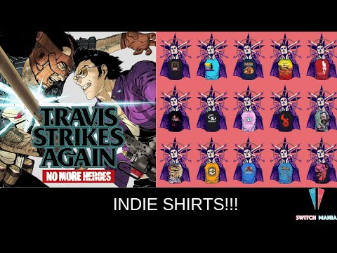 Travis Strikes Again: No More Heroes. Indie Game Shirt Selection