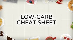 Low-Carb Cheat Sheet