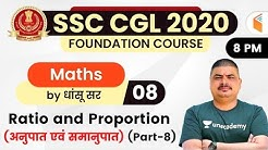 8:00 PM - SSC CGL 2020-21 | Maths by Dhasu Sir | Ratio and Proportion (Part-8)
